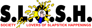Club Logo - 31 Years of S.L.O.S.H. (Society for Lovers Of Slapstick Happenings)